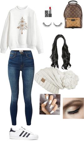 winter white beanie