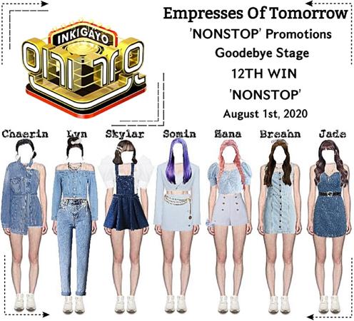 EOT(내일의 황후)   Inkigayo: 12th Win + Goodbye Stage