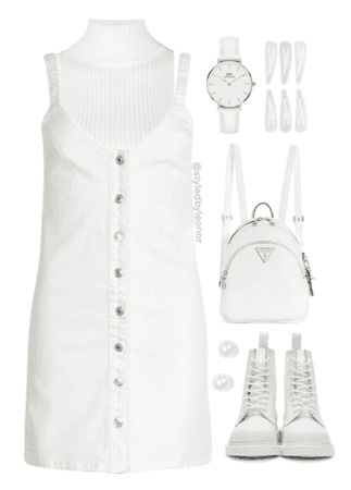 All White Soft Casual Outfit