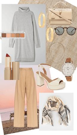 camel x gray