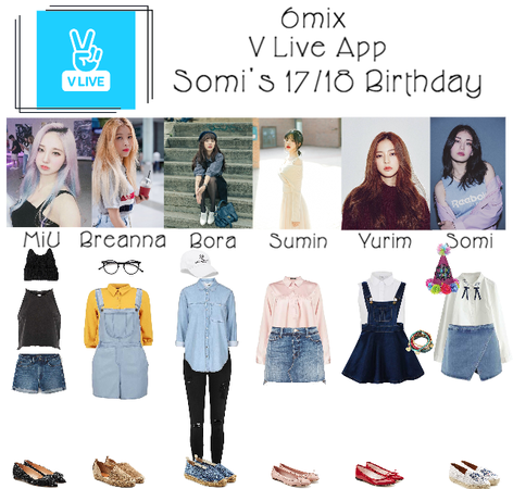 《6mix》V Live App: Somi's 17/18 Birthday