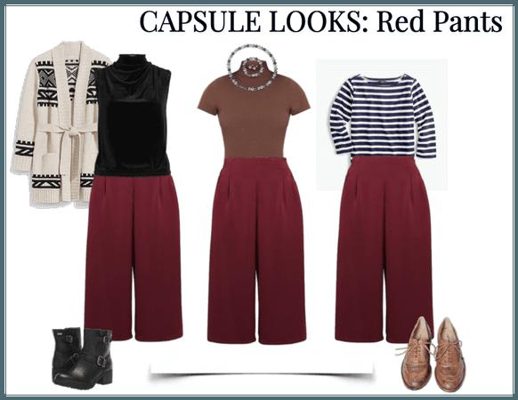 Capsule Looks: Red Pants