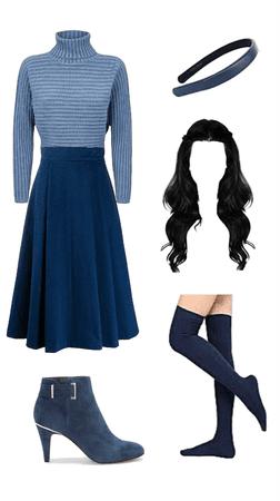 blue wallflower