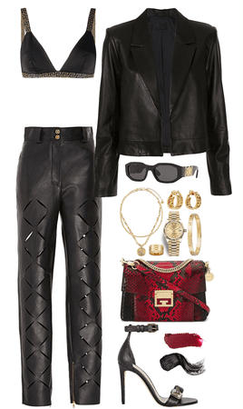 edgy,leather look