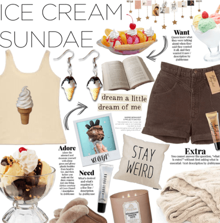 Stay home and eat ice cream.