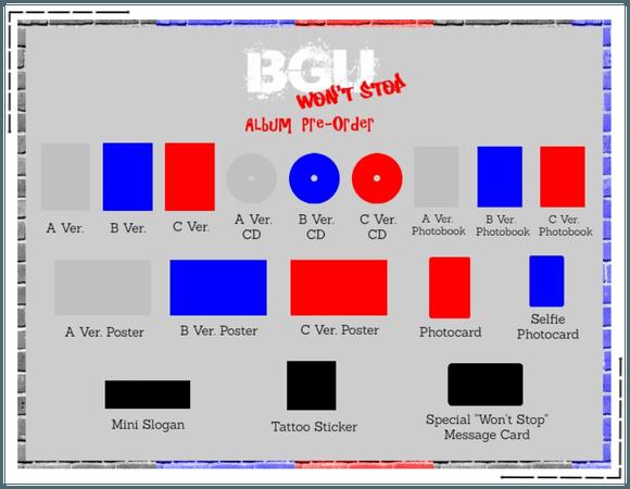 """BGU """"Won't Stop"""" Album Per-Order"""
