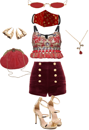 vintage red and gold