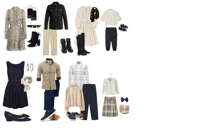 Neutral Fall Family Looks 1
