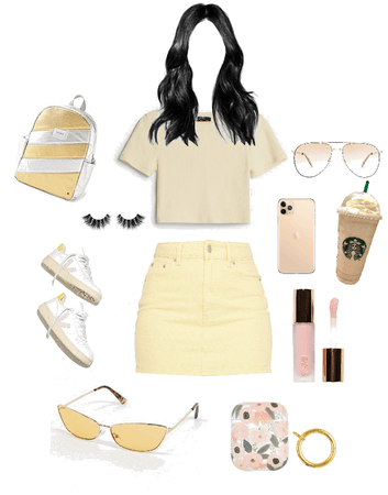 pastel yellow outfit for girls