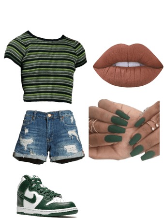 Green and Black Fit