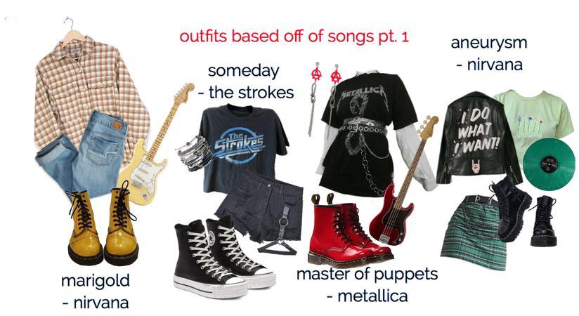 outfits based off of songs pt. 1