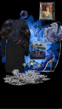 water lilies. dark blue trend