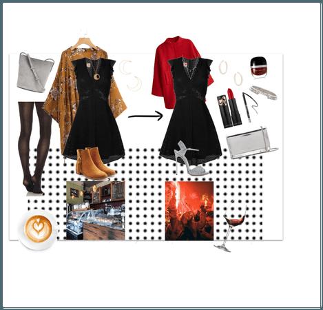 black dress transition