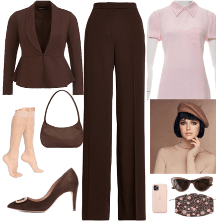 Earthy Brown & Soft Pink