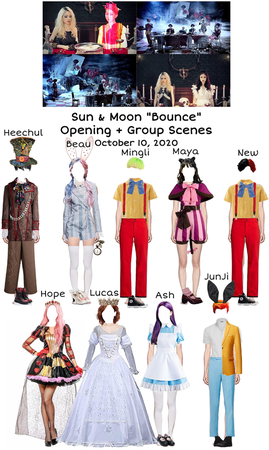 "Sun & Moon ""Bounce"" Opening + Group Scenes"