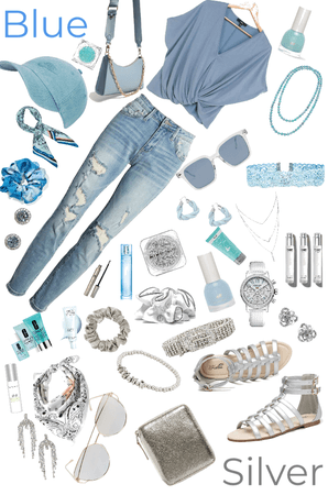 Blue and Silver