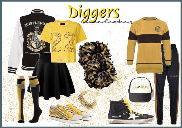 Diggers Cheerleaders Uniform #1