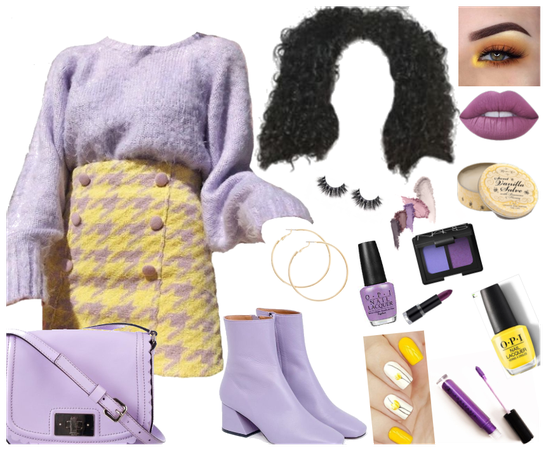 Purple & Yellow Outfit (Sorry if it looks bad)