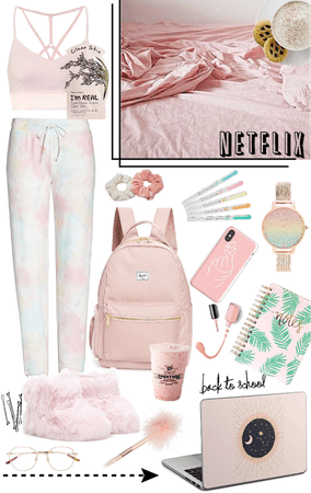 Home school in pink 🍡