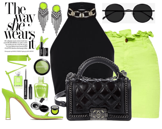 Lime green and Black