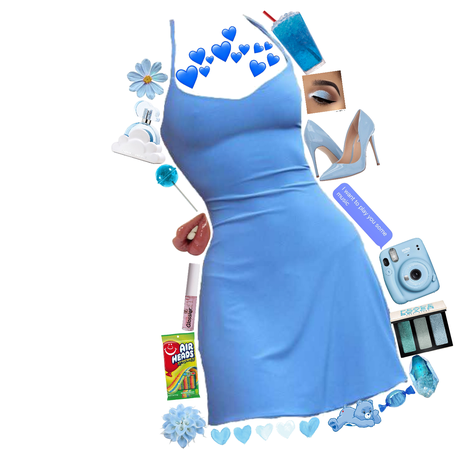blue party outfit -for party challenge-