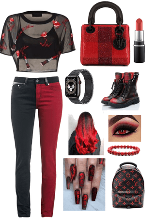Red and black challenge
