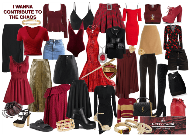 Mood Board of a Gryffindor