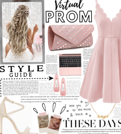 Pink&gold virtual prom