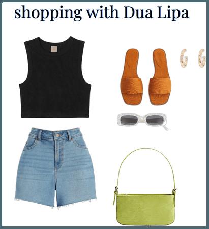 shopping with dua lipa