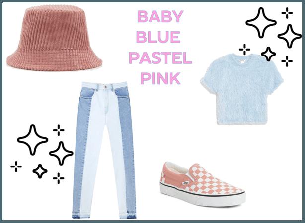 BABY BLUE PASTEL PINK 😊