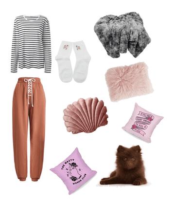 ElizabethStyle Pink lazy day