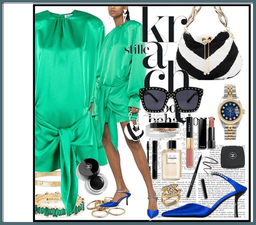 Green Atico dress