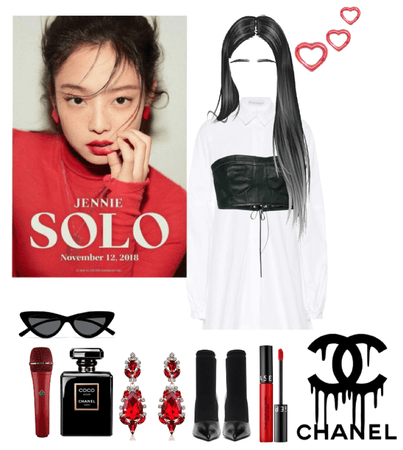 Jennie solo stage outfit