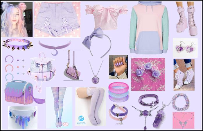 Kawaii Pastel Purple Aesthetic