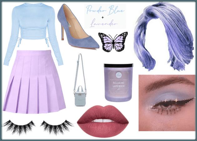 Powder Blue + Lavender