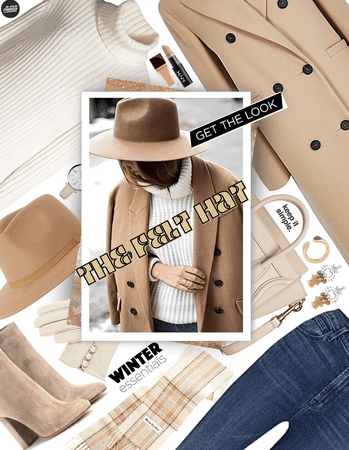 get the look: winter felt hat