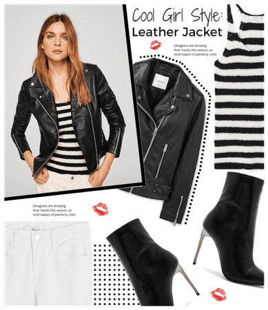 Cool Girl Style: Leather Jacket