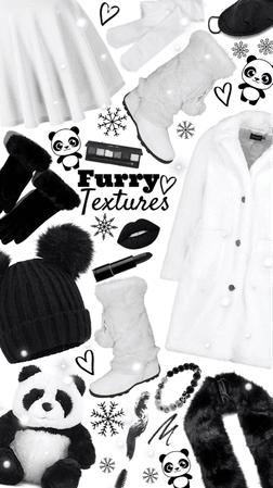 panda fur! 🐼🖤🤍