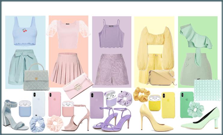 5 pastel babes