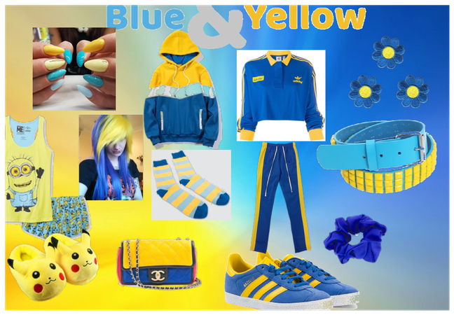 blue and yellow outfit challenge! @looksbylyla