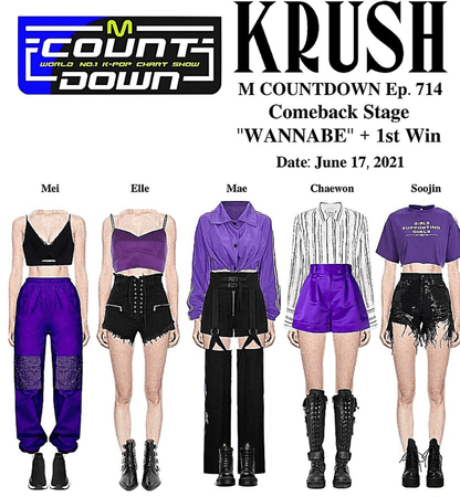 """KRUSH M Countdown Comeback Stage """"WANNABE"""" + 1st Stage"""