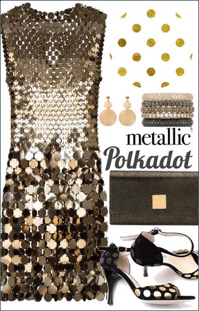 Metallic polkador
