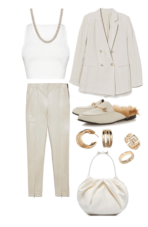 Linen and leather