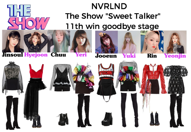 """NVRLND The Show """"Sweet Talker"""" goodbye stage 11th"""