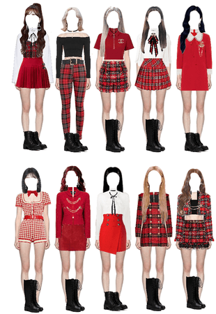 Twice- I can't stop me outfit inspiration| RED❤️