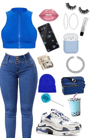 casual blue  baddie 🥶💦💙