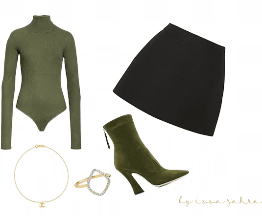 fall outfit (basic & green)
