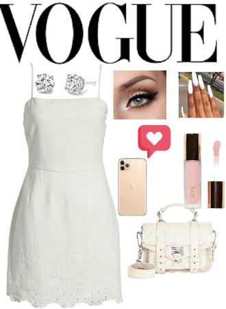 white vogue oulfit
