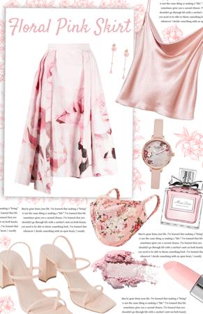 pink floral skirt  💗 PINK CHALLENGE 💗 