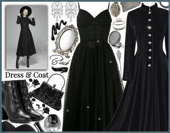 Dress & Coat: Gothic Vintage